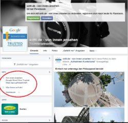 Google Street View Trusted - von innen ansehen :: Verknüpfung auf Facebook