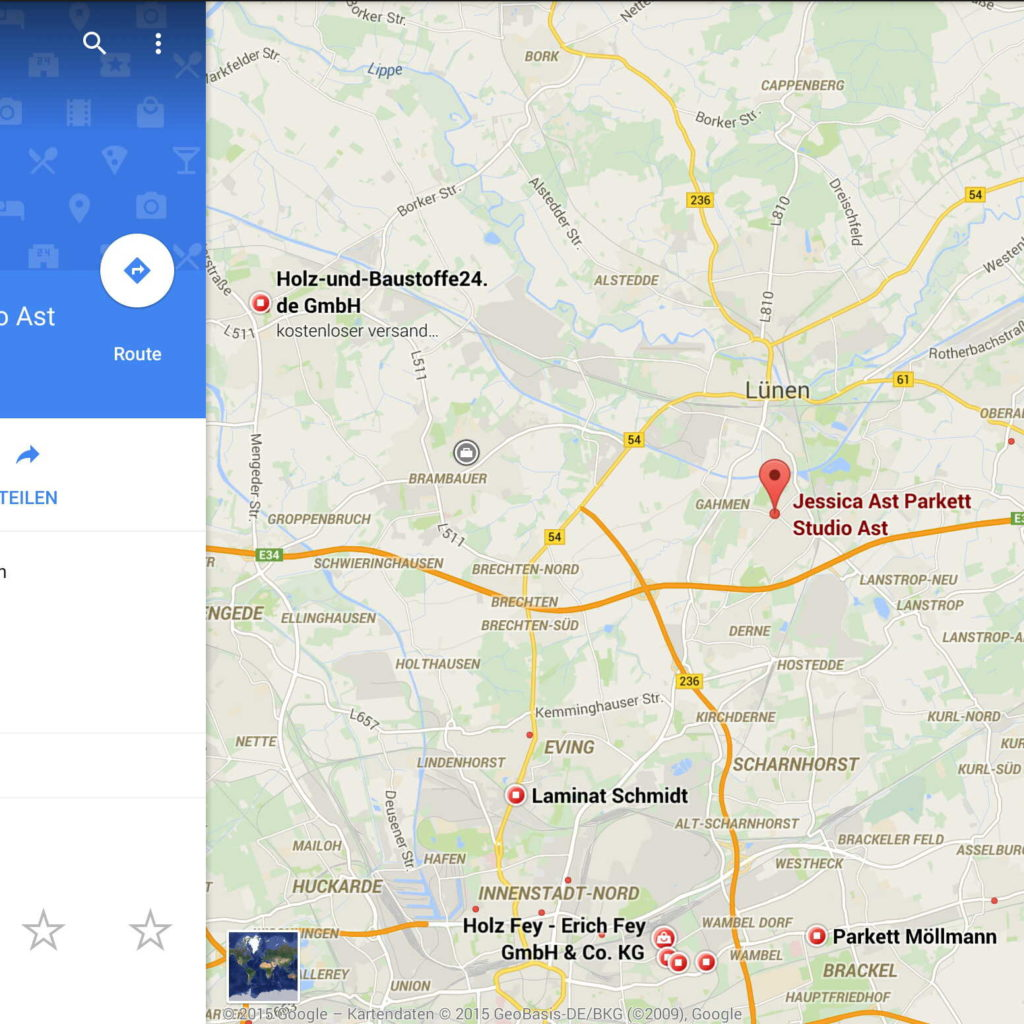 google-maps-pakett-ast