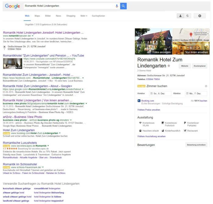 Romantik Hotel Lindengarten - Google Suche