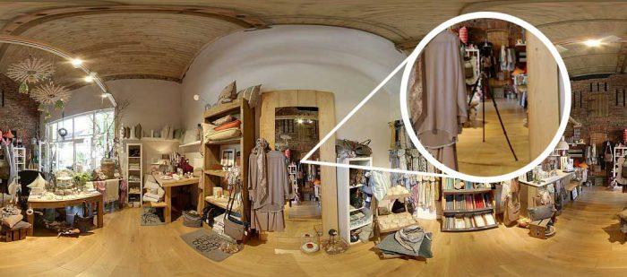 Retuschierung eines Panoramabildes mit Spiegel