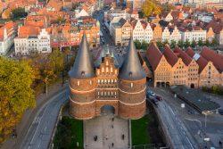Lübeck von oben Holsten Tor
