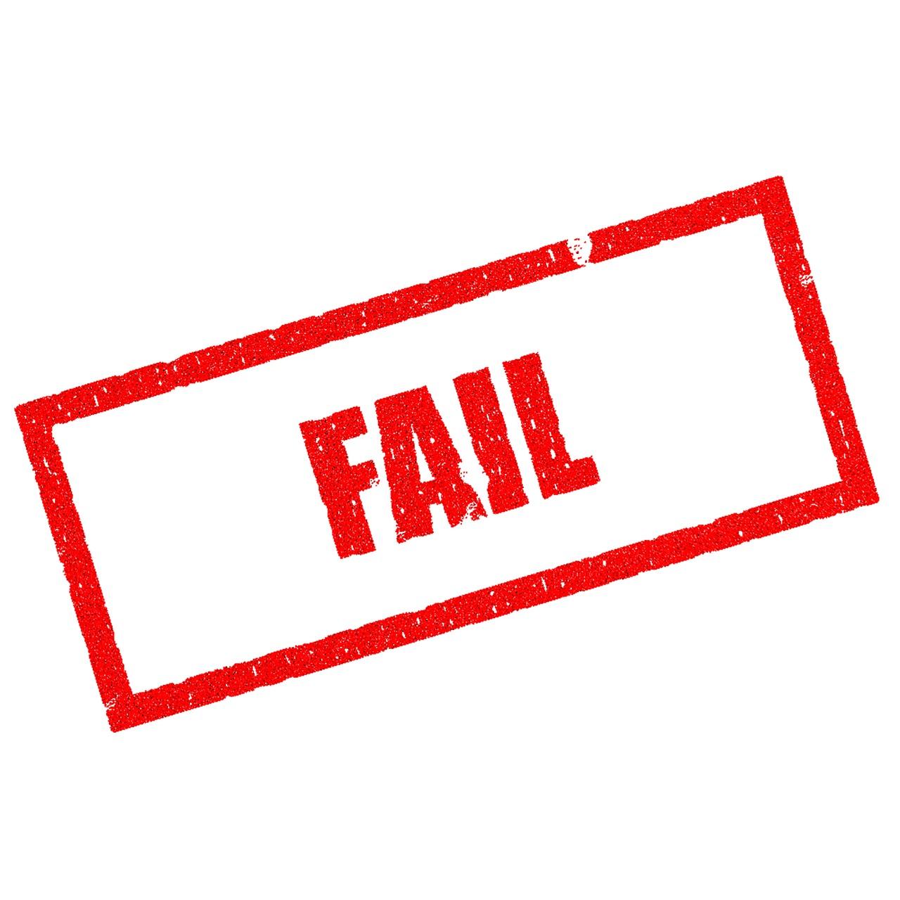 Fail Verlieren Andernfalls Fehler Geschäft Krise