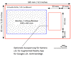 Masszeichnung VR CardBord V2