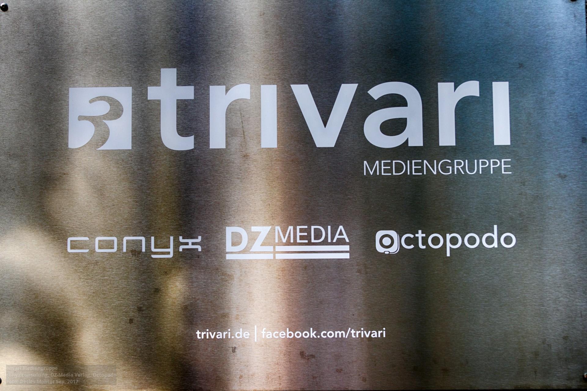 Schild trivari Mediengruppe