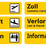 Hinweisschilder Airport Flughafen