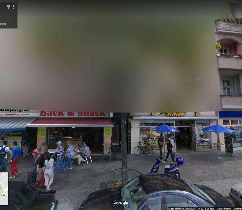 verpixelte ansicht google street view