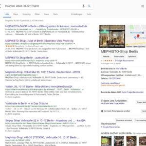 Branchenbucheintrag Google
