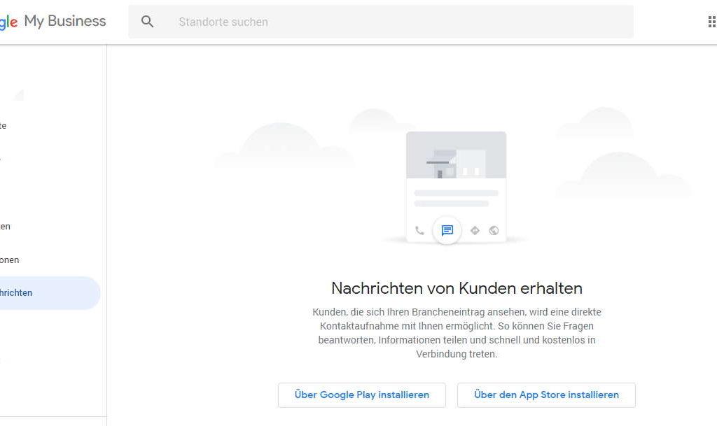 Google My Business - Nachrichten von Kunden erhalten