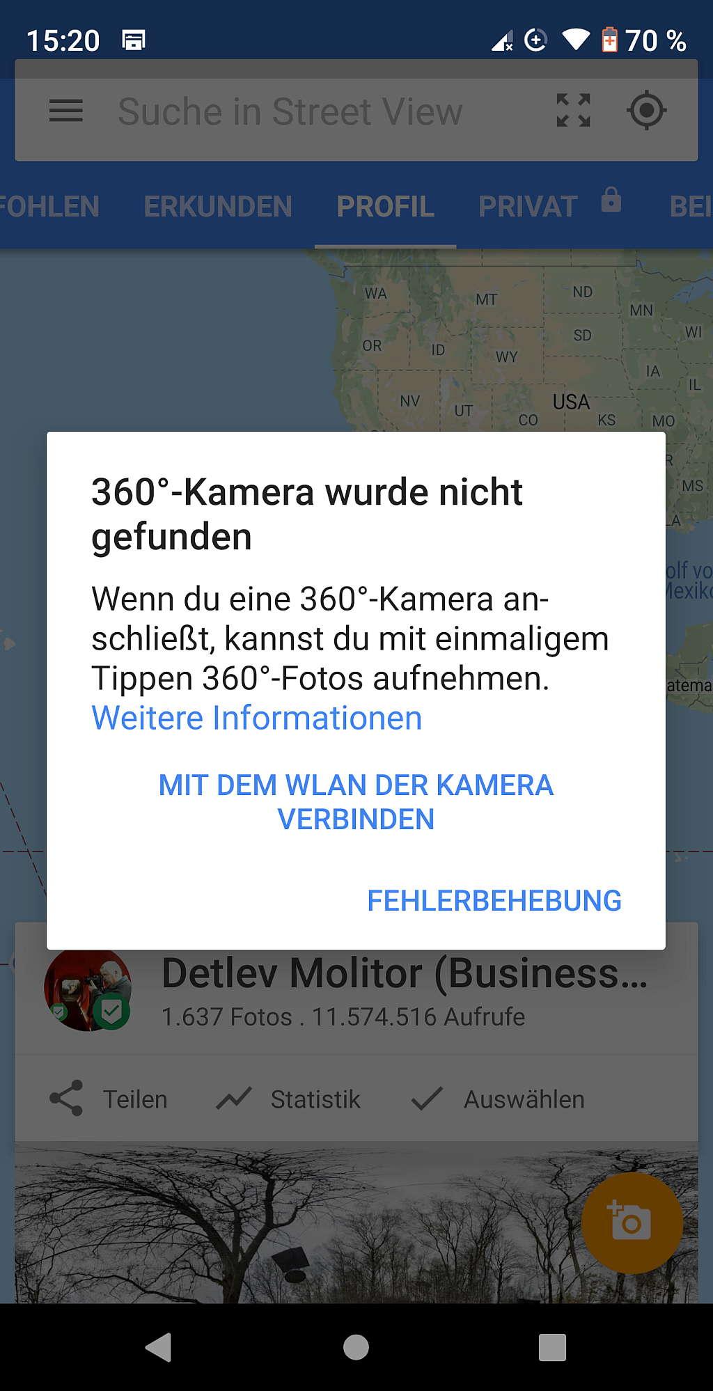 GSV App externe 360° Kamera verbinden