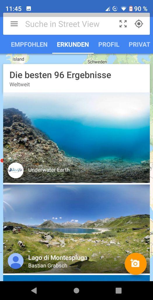 Google Street View App Erkunden