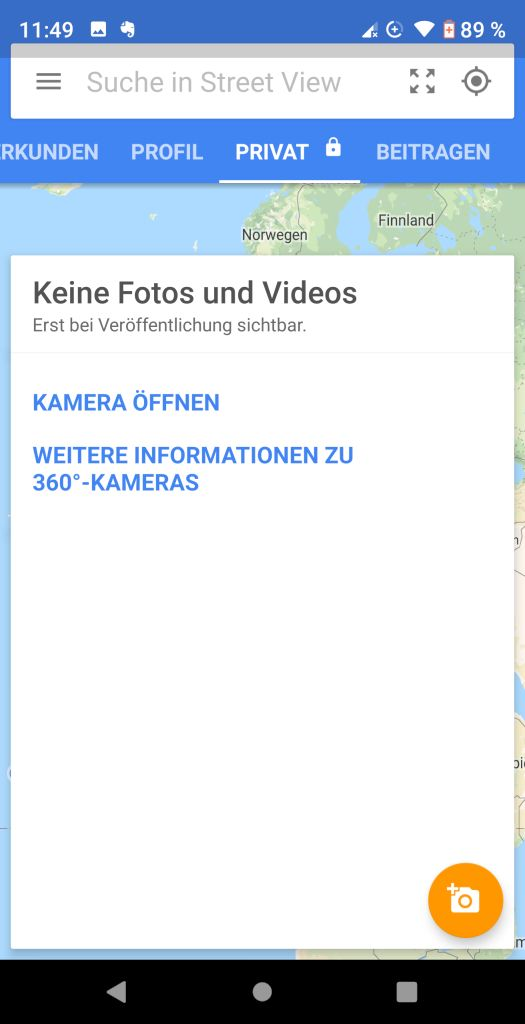 Google Street View App Privat