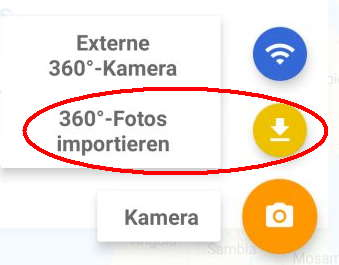 Google-Street-View-App-360°-Fotos importieren