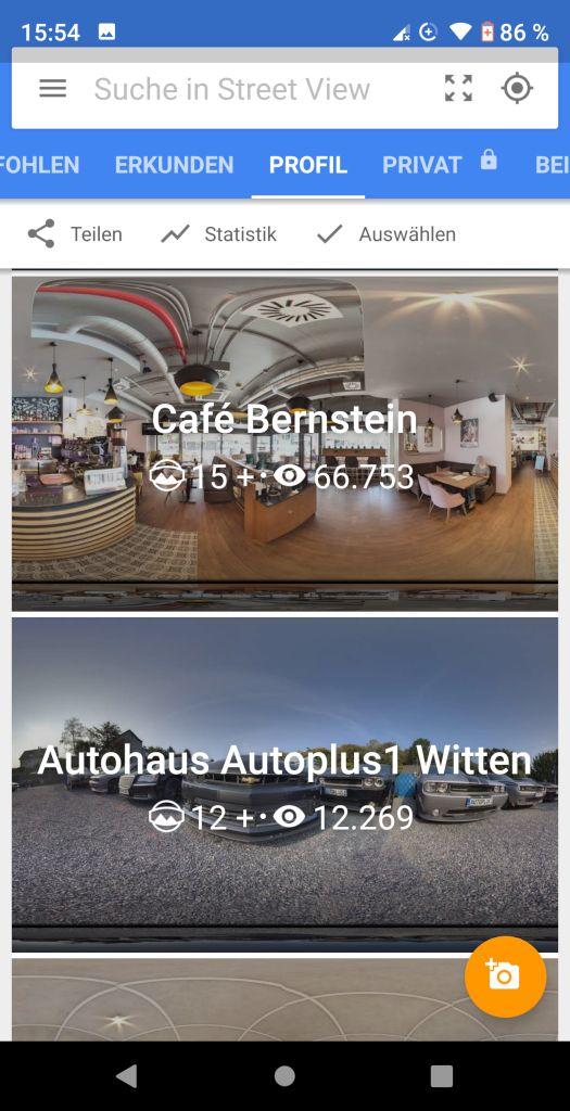 Google Street View App Profil