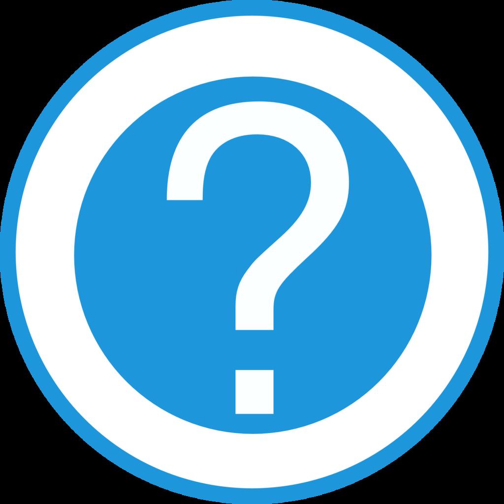 Frage Marke Marken Blau Hilfe Symbol Anmelden