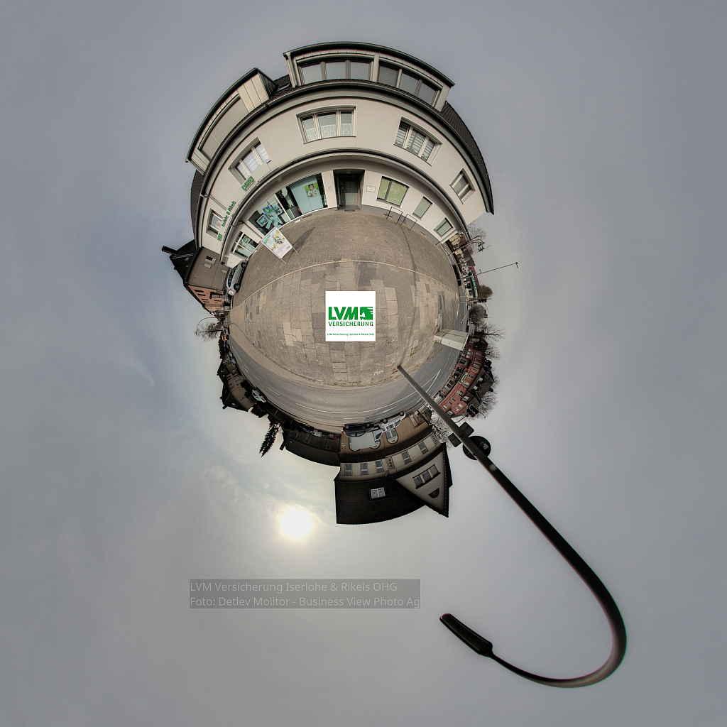 LVM Versicherung Little Planet Panorama