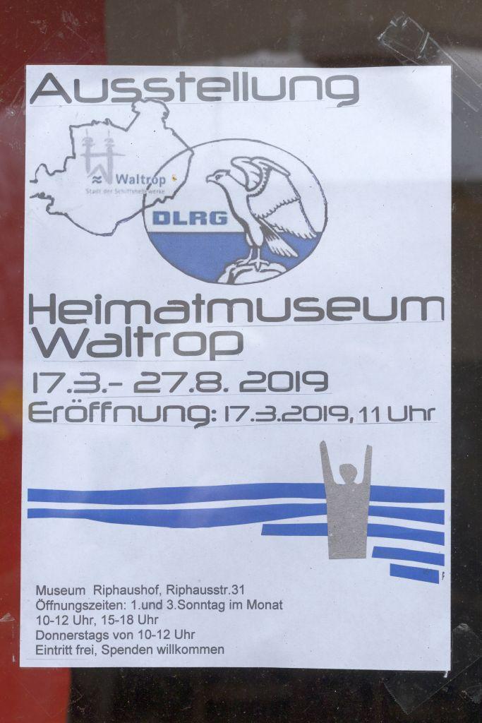 DLRG Austellung im Heimatmuseum