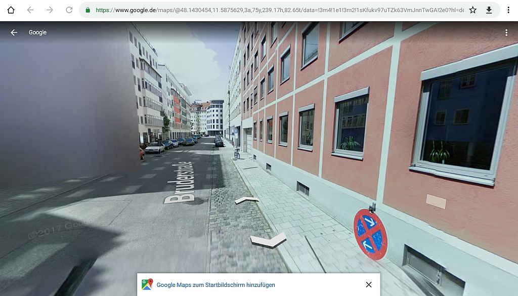 Google Street View Auto ansicht