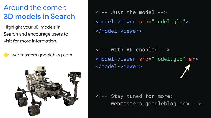 Google AR Model für die Suche