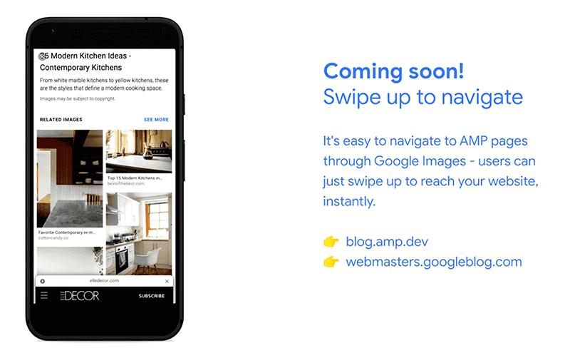 Google Bilder Swipe