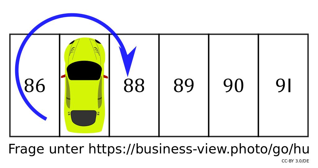 Lösung: Auf welchem Parkplatz steht das Auto?