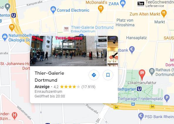 Werbung auf Google Maps