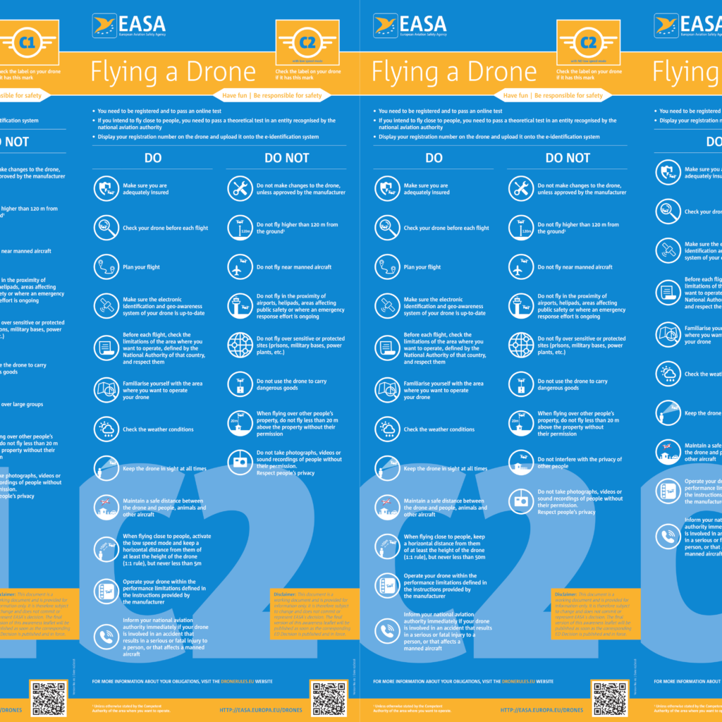 EASA DRONE POSTER